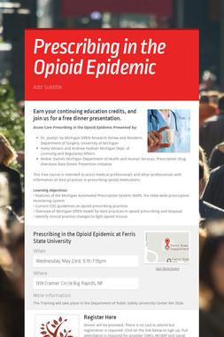 Prescribing in the Opioid Epidemic
