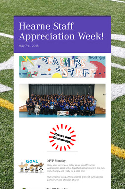 Hearne Staff Appreciation Week!