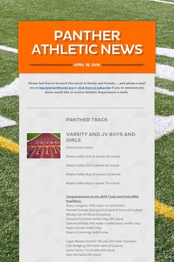 Panther Athletic News