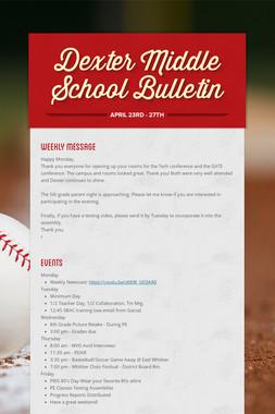 Dexter Middle School Bulletin