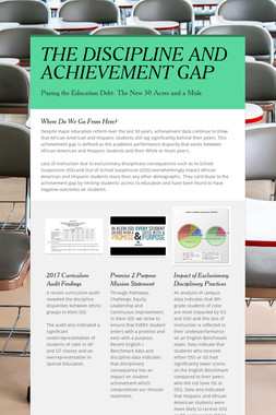 THE DISCIPLINE AND ACHIEVEMENT GAP