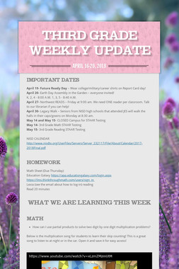 Third Grade Weekly Update