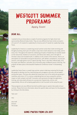 Westcott Summer Programs