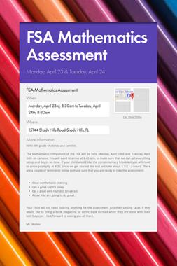 FSA Mathematics Assessment