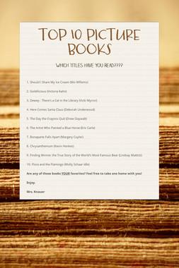 TOP 10 PICTURE BOOKS