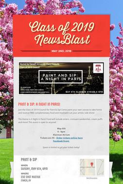 Class of 2019 NewsBlast