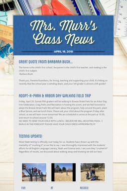 Mrs. Murr's Class News