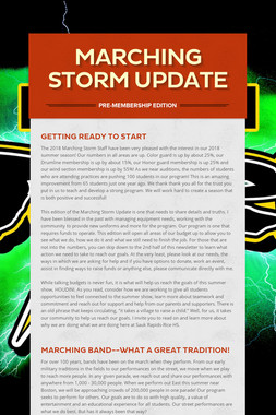 Marching Storm Update