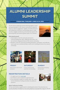 Alumni Leadership Summit