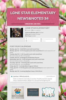 Lone Star Elementary News&Notes 34