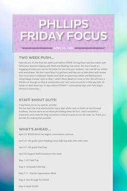 Phllips Friday Focus