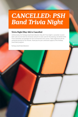 CANCELLED: PSH Band Trivia Night