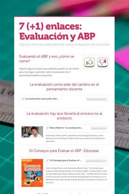 7 (+1) enlaces: Evaluación y ABP