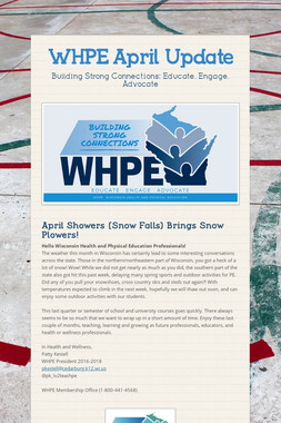 WHPE April Update