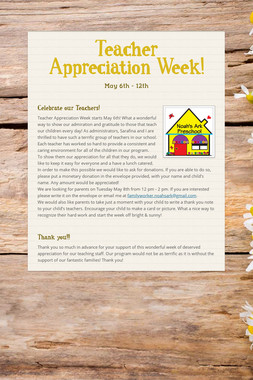 Teacher Appreciation Week!