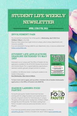 Student Life Weekly Newsletter