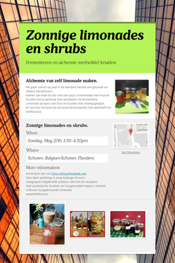Zonnige limonades en shrubs