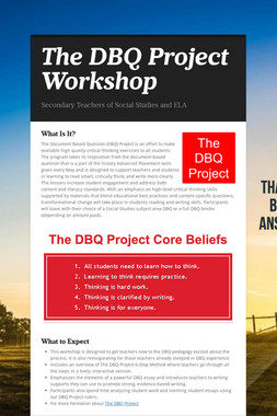 The DBQ Project Workshop