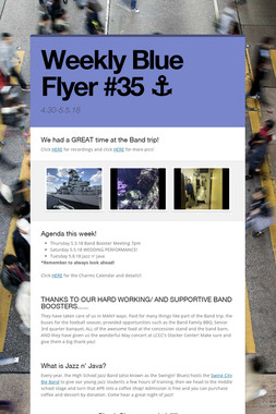 Weekly Blue Flyer #35   ⚓️