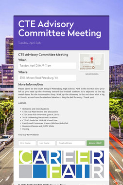CTE Advisory Committee Meeting