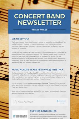 Concert Band Newsletter
