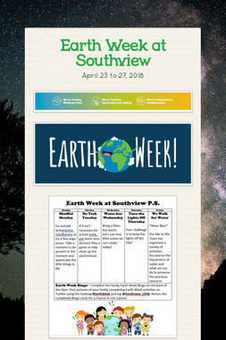 Earth Week at Southview