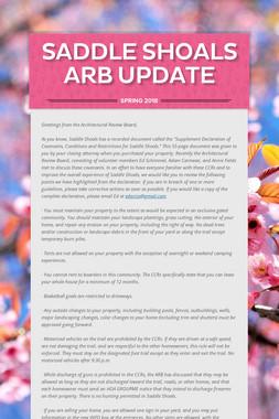 Saddle Shoals ARB Update