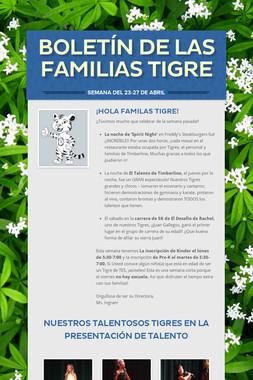 Boletín de las Familias Tigre