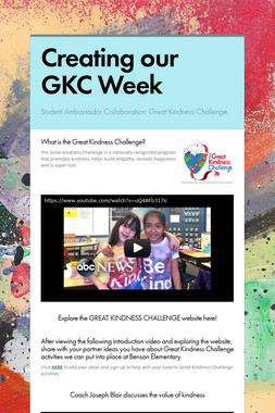 Creating our GKC Week