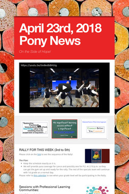 April 23rd, 2018 Pony News
