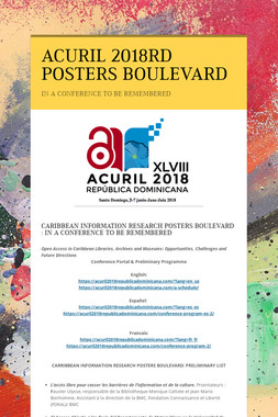 ACURIL 2018RD POSTERS BOULEVARD