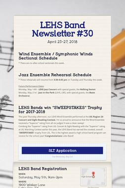 LEHS Band Newsletter #30