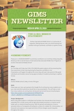 GIMS Newsletter