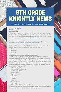 8th Grade Knightly News