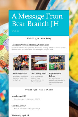 A Message From Bear Branch JH