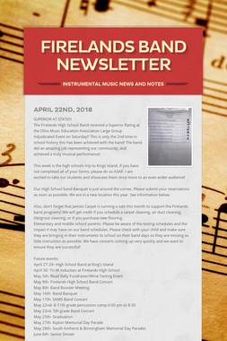 Firelands Band Newsletter