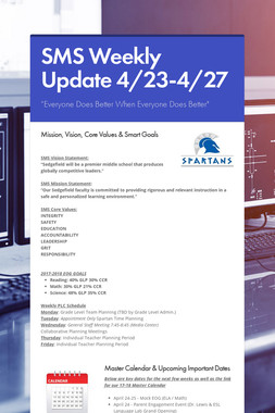 SMS Weekly Update 4/23-4/27