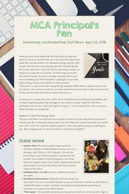 MCA Principal's Pen