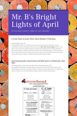 Mr. B's Bright Lights of April