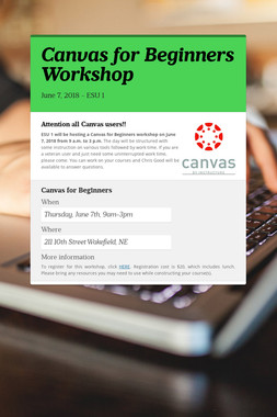 Canvas for Beginners Workshop