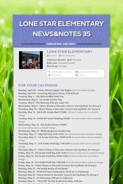 Lone Star Elementary News&Notes 35