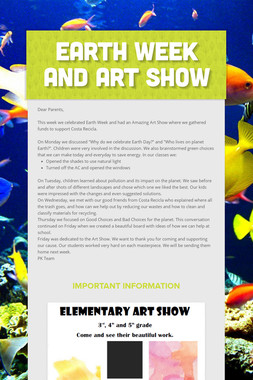Earth Week and Art Show