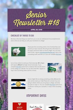 Senior Newsletter #18