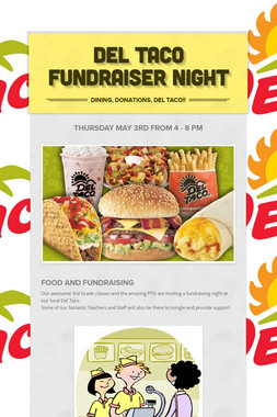 Del Taco Fundraiser Night
