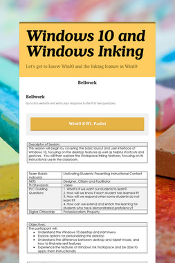 Windows 10 and Windows Inking