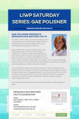 LIWP Saturday Series: Gae Polisner