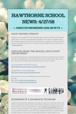 Hawthorne School News: 4/27/18