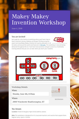 Makey Makey Invention Workshop