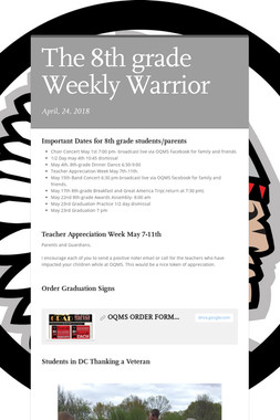 The 8th grade Weekly Warrior