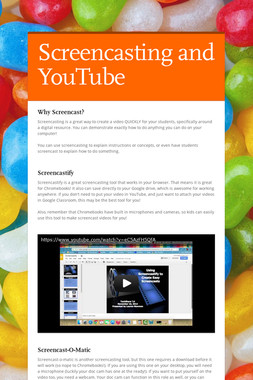 Screencasting and YouTube